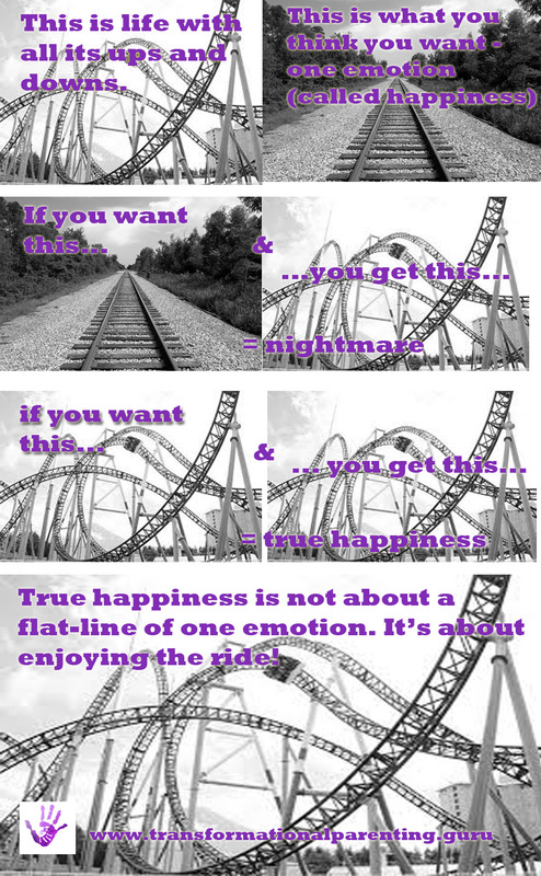 True happiness is about enjoying the ride.