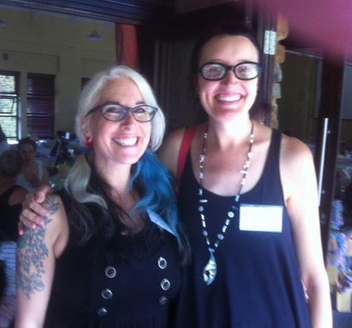 Lainie Liberti and Mia Von Scha at the Learning Reimagined Conference in Johannesburg.